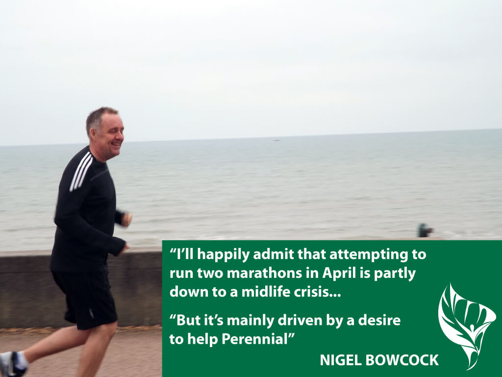 Nigel Bowcock is running the Brighton and London Marathons for us in 2015