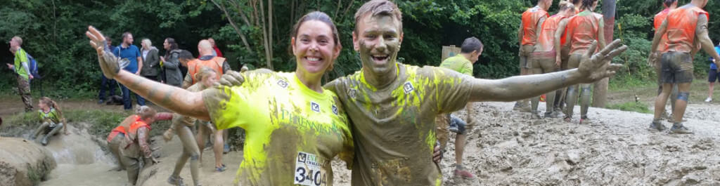 Claire Vokins and Jamie Butterworth during the 2015 Nuts Challenge