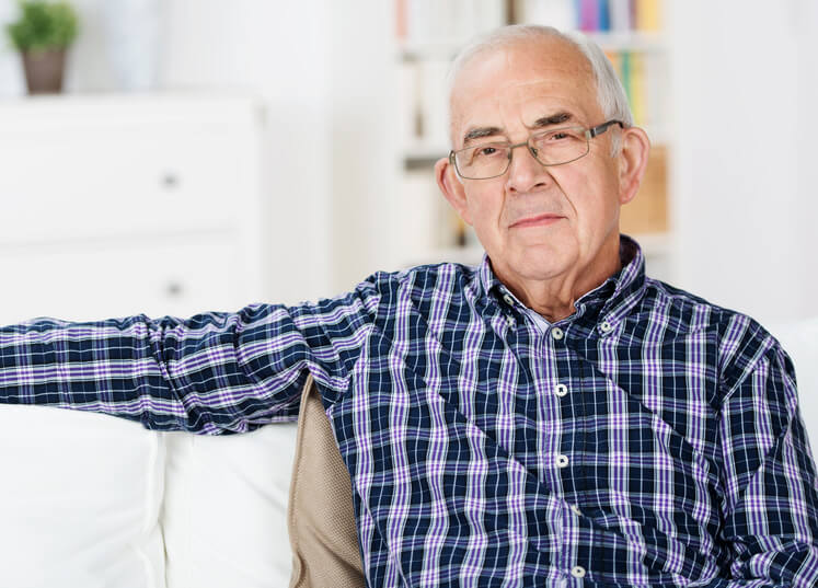 Retired Man sitting down