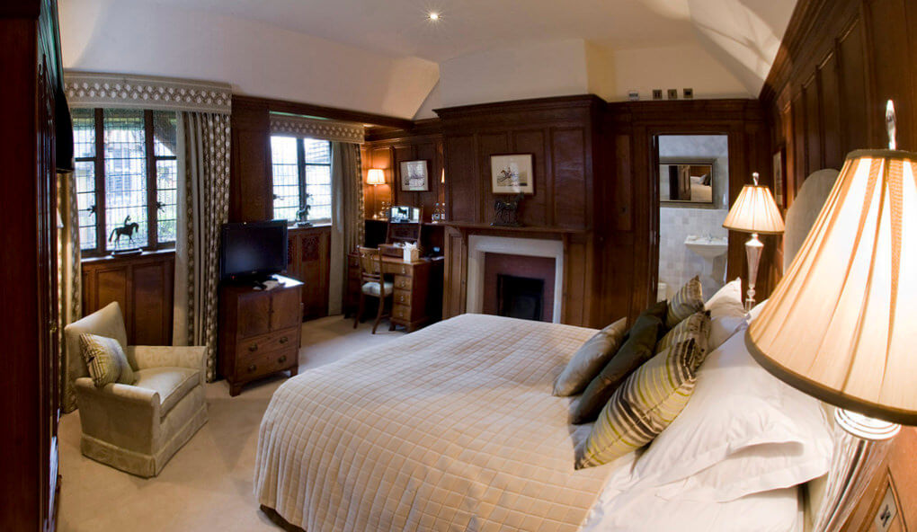 One of the luxurious rooms at Hever Castle