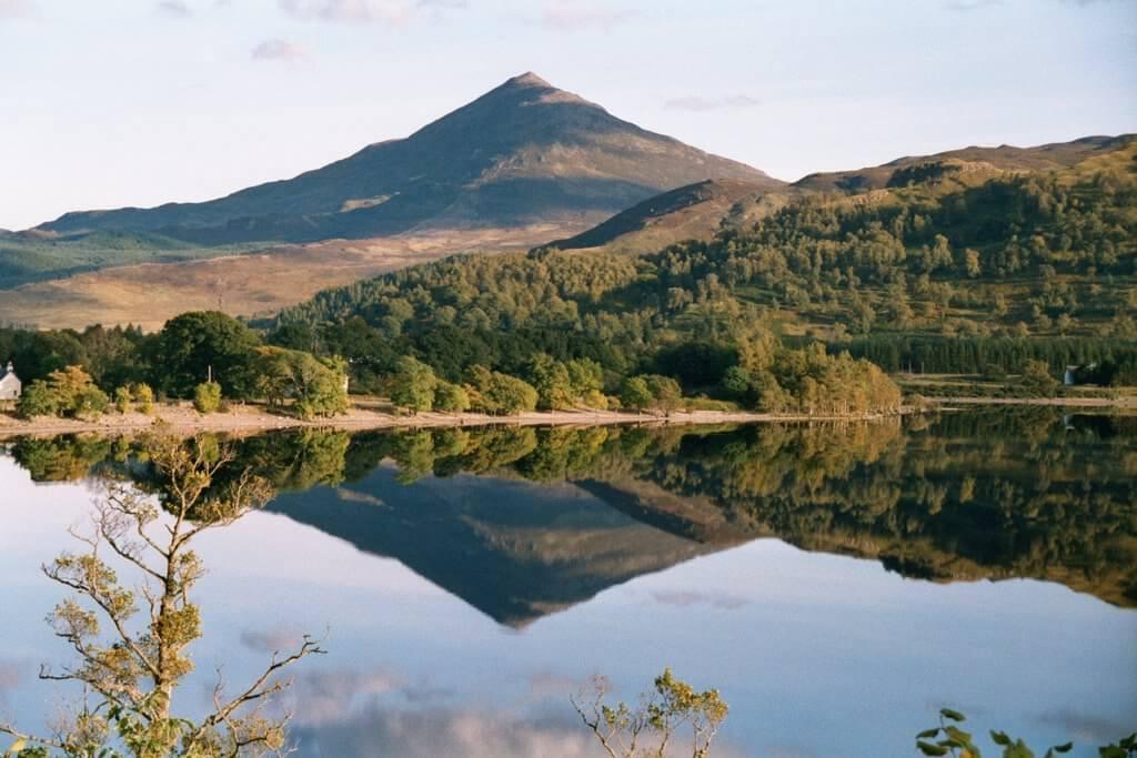 A stunning view across Loch Rannoch in Scotland