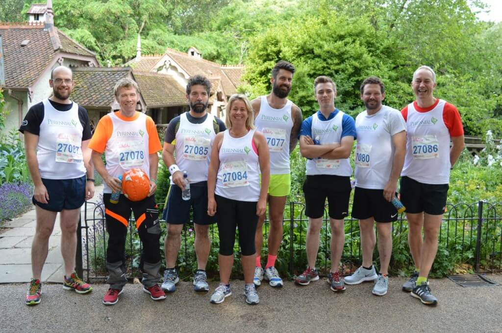 The Perennial team at the 2015 British 10K London