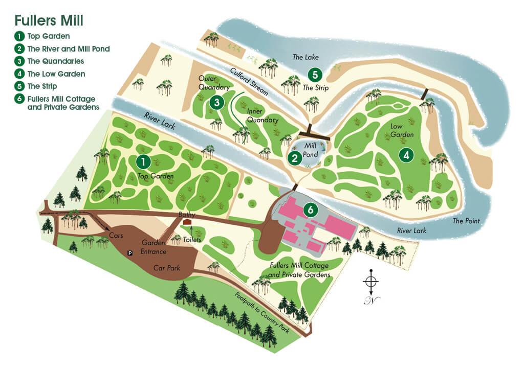Map of Fullers Mill Garden